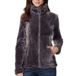 Dark grey woman plush jacket